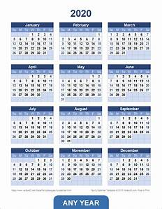 Fiscal Week Calendar 2020 Yearly Calendar Template For 2020 And Beyond