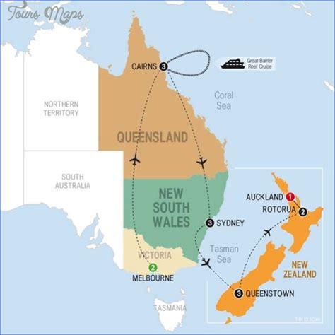 map  zealand  australia toursmapscom