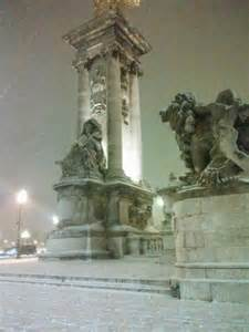 Winter Snow in Paris France