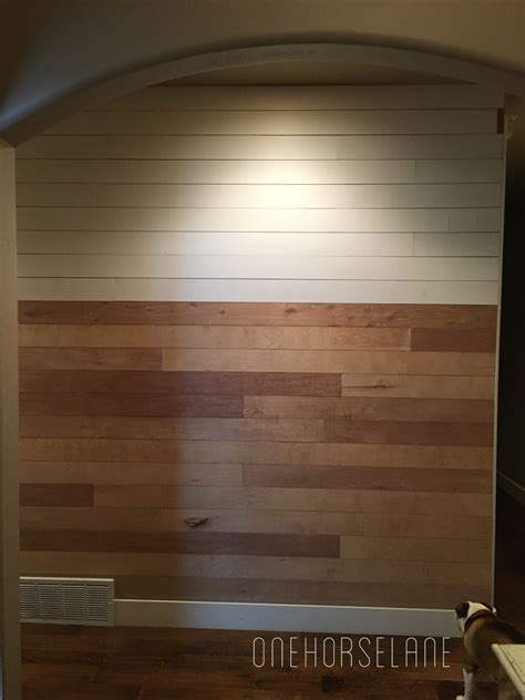 Easy Shiplap by Diy Shiplap Wall Easy Cheap And Beautiful Part 1 One