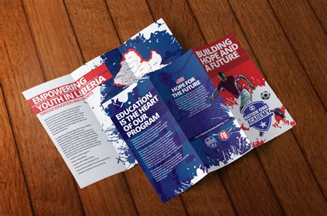 youth education program tri fold brochure brochure