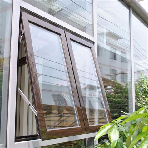 security tempered glass modern design aluminum awnings window