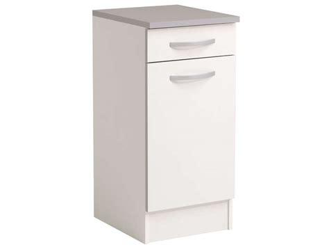 meuble de cuisine a conforama meuble bas 40 cm 1 porte 1 tiroir spoon coloris blanc