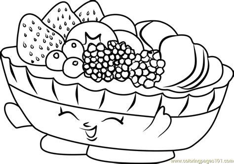 Fifi Fruit Tart Shopkins Coloring Page For Kids Free