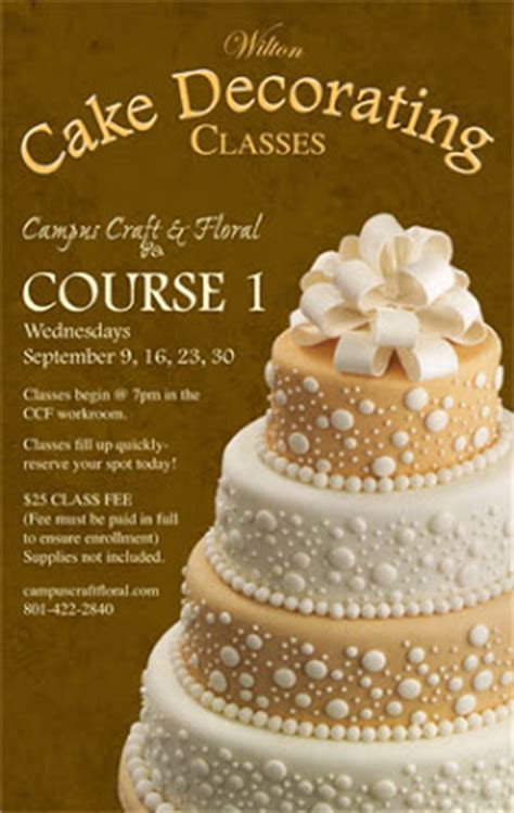 cake decorating class sign up cus floral august 2009