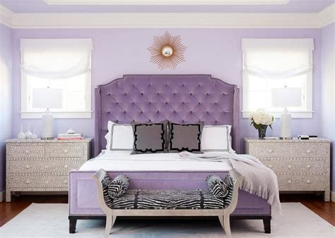 purple wall decor for bedrooms purple bedrooms tips and decorating ideas 19572 | purplebedroomwithupholsteredheadboard 59f6152b68e1a20010156a81