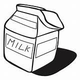 Milk Coloring Carton Netart Clip Clipart Template sketch template