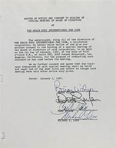 lot detail the beach boys rare vintage group signed With a signed documents