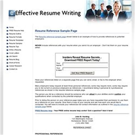 Etiquette For References On Resumes by Resume Reference Page Etiquette Birthdayessay X Fc2