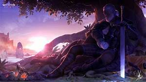 Geralt And Yennefer By Lilenarttumblrcom Witcher