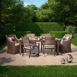 smith hawken premium edgewood 7 piece wicker patio