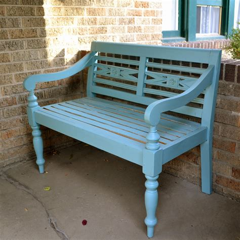 front porch bench benched ash and orange