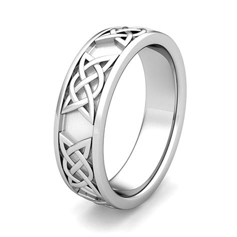 custom comfort fit celtic wedding band ring for men and women