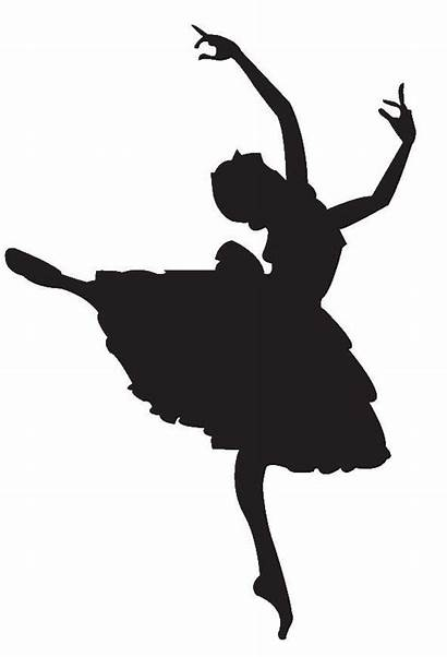 Silhouette Ballerina Clip Dancer Dance Coloring Pages