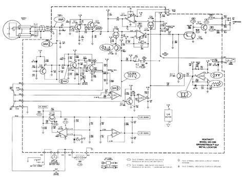 Heathkit Groundtrack Metal Detector Schematic Diagram