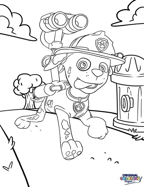 Paw Patrol Coloring Pages Original Coloring Pages
