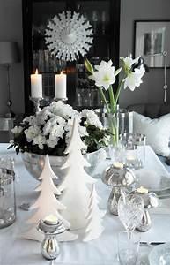 Table De Noel Traditionnelle : id e d co no l table blanche ~ Melissatoandfro.com Idées de Décoration