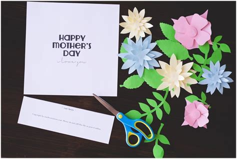 mothers day crafts  kids  printable templates