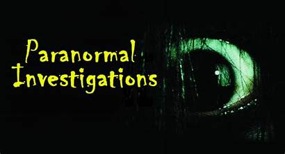 Paranormal Investigations Event