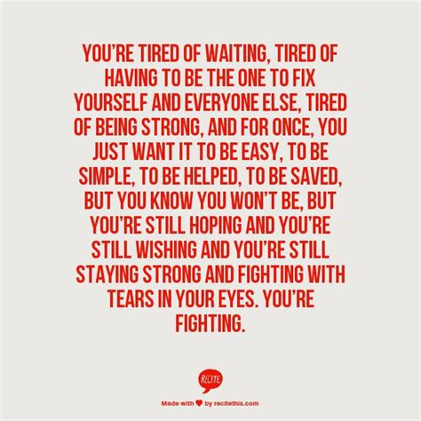 Being The Strong One Quotes