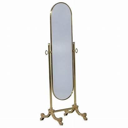 Mirror Cheval Floor Antique Brass Modern Length