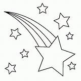 Coloring Printable Stars Moon Star Comments sketch template