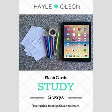 5 Ways To Study Flash Cards  Student, Lifestyle And Study Tips