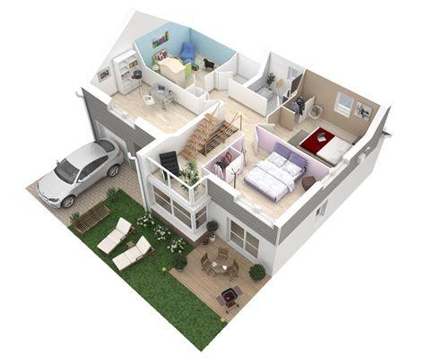 plan maison 4 chambres etage plan de maison 100m2 3 chambres plan maison plein pieds