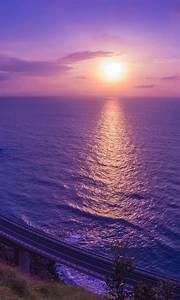Purple, Sunset, Reflection, 4k, Wallpapers