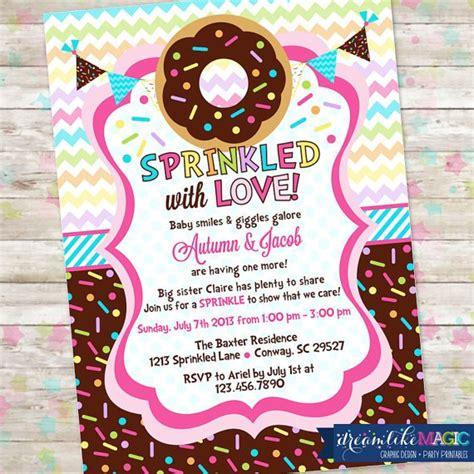 printable doughnut baby shower invitation idea