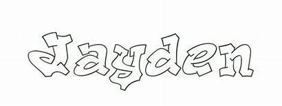 Coloring Jayden Letters Bubble Pages Names Text