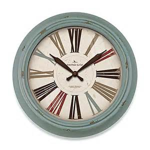 firstime 174 relic wall clock in teal bed bath beyond