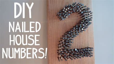 nailed  diy rustic modern house numbers youtube