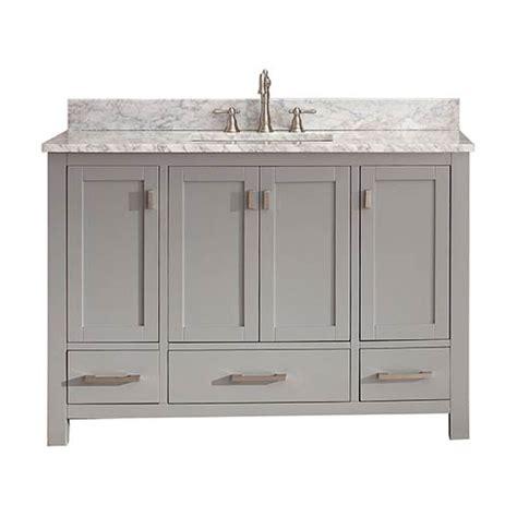 48 inch vanity cabinet only modero chilled gray 48 inch vanity only avanity vanities