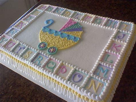 Baby Shower Sheet Cakes For stroller baby shower sheet cake cakecentral cake