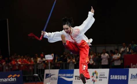 wushu persembahkan emas kedua bagi indonesia  asian games  suryakabarcom