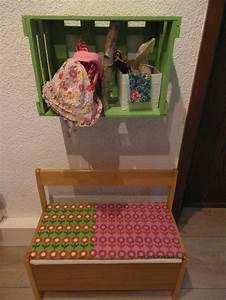 Kindergarderobe Mit Bank : kindergarderobe alte weinkiste garderobe pinterest ~ Sanjose-hotels-ca.com Haus und Dekorationen