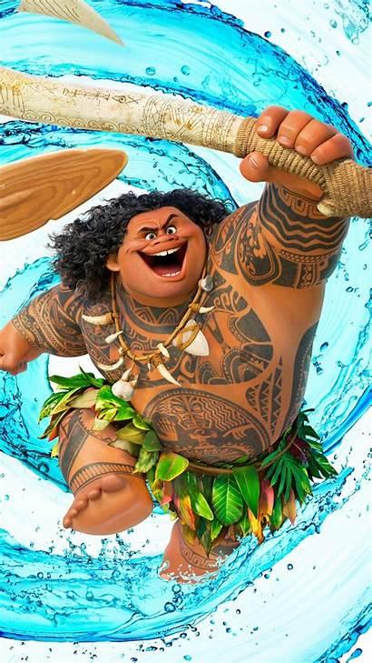 Moana Maui Wallpapers Disney Dwayne Johnson Iphone