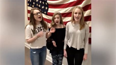 Teen Trio Goes Viral With Impromptu National Anthem
