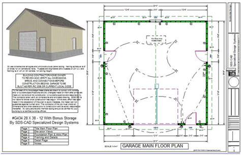 how to build a garage sds plans