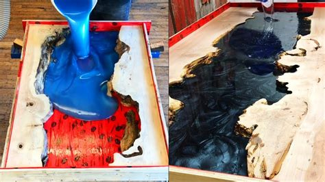 10 Amazing Epoxy Resin River Tables And Wood Burning With
