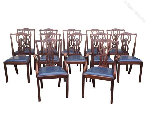 antique dining room sets set of twelve antique mahogany dining room chairs antiques atlas