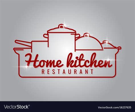 home kitchen restaurant  logo royalty  vector image