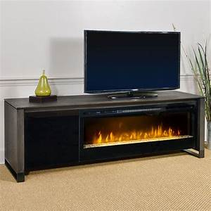 Howden electric fireplace media console in weathered for 100 inch media console