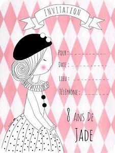 Invitation Anniversaire Fille 9 Ans : 8 ans la jolie f te de jade rose moustache ~ Melissatoandfro.com Idées de Décoration