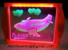 LED Neon Kids Drawing Painting Board on Pinterest