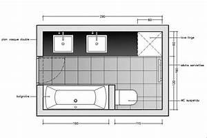 Plan Petite Salle De Bain : avec des wc suspendus ~ Melissatoandfro.com Idées de Décoration