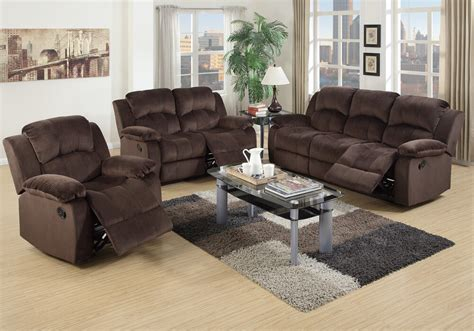 Chocolate Loveseat by 3 Pc Living Room Motion Sofa Loveseat Rocker Recliner Set