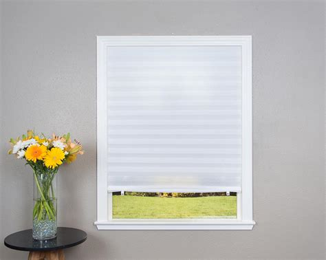 light filtering shades original light filtering pleated fabric shade white 36 quot x