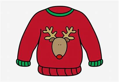 Sweater Clipart Holiday Ugly Clip Transparent Tacky